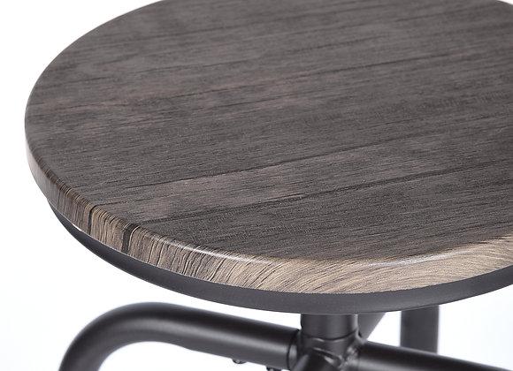 FurnitureR Bar & Counter Stool (Set of 2) Swivel Height Adjustable Backless, Vi