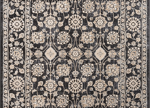 """Well Woven Avebury Alexis Vintage Oriental Floral Grey 7'10"""" x 10'6"""" High-Low A"""
