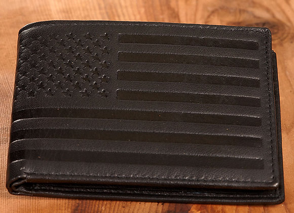 Men's American Flag Embossed Leather Wallets