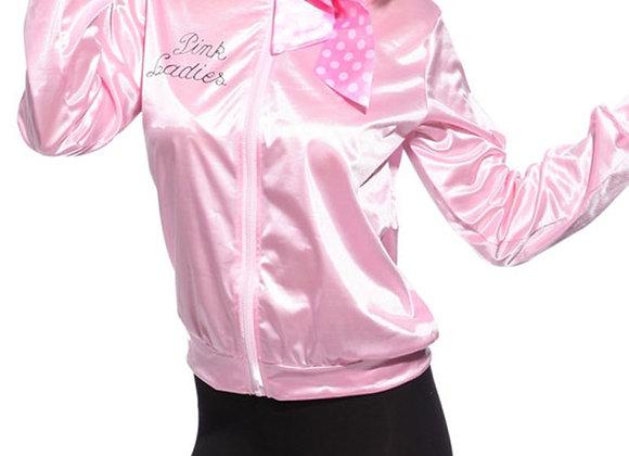 Graduation Pink Girl Retro Jacket Female Fancy Grease Clothing Cheerleader Vint