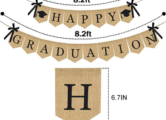 Graduation Decoration Banner 2021  Graduation Party Supplies Congrats Grad Burl