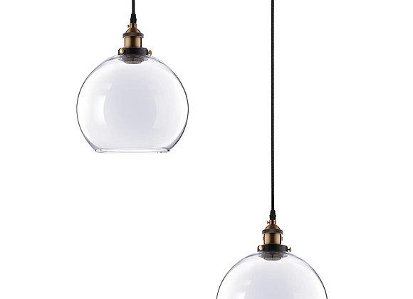"Vintage Industrial 9.8"" Ball Shape Glass Ceiling Light Pendant"