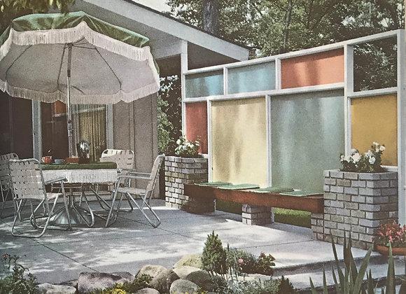 Landscape Planning Better Homes Gardens book 1963 Mid Century Modern Patio Desi