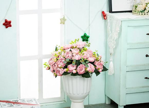 Classic Urn Planter, 2 Pcs Plastic Indoor or Outdoor Decorative Urn, Tall Pedes