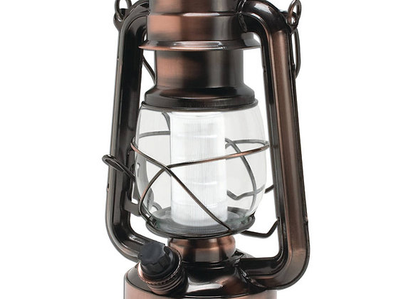 Northpoint Vintage Style Copper Hurricane Lantern with 12 LED's and 150 Lumen L