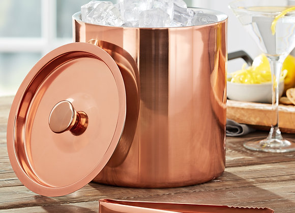 Mainstays 3 Quart Stainless Steel Ice Bucket, Copper