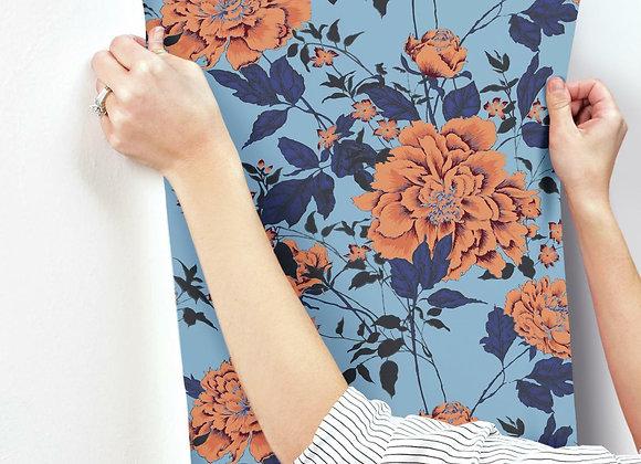 Vintage Floral Orange Peel & Stick Wallpaper by Drew Barrymore Flower Home