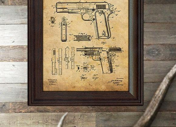Framed U.S. Patent Wall Art