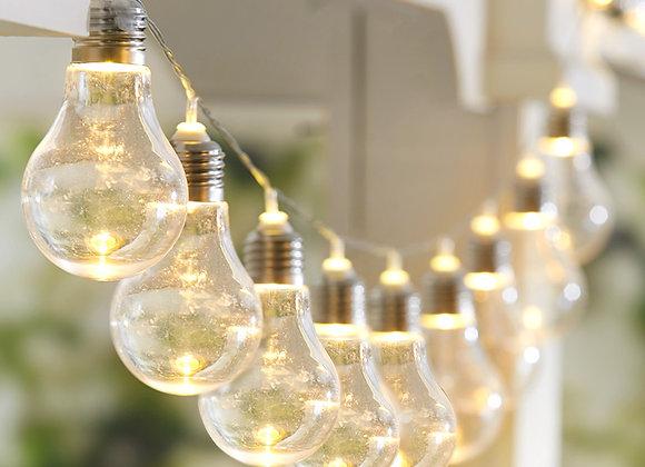 Iridescent LED Bulb String Lights