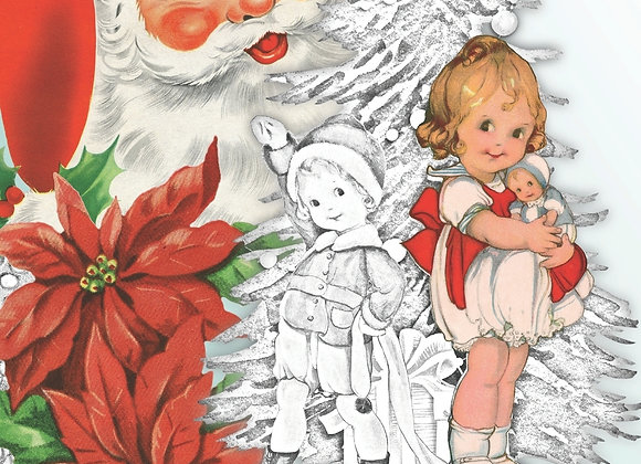 Retro Old fashioned Christmas : Vintage christmas coloring book for adults (Pap