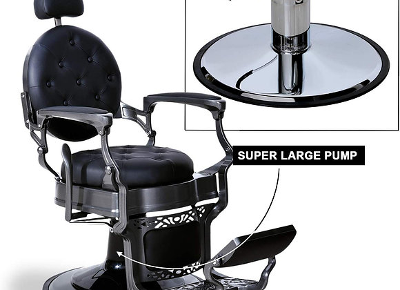 BarberPub Heavy Duty Metal Vintage Barber Chair All Purpose Hydraulic Recline S