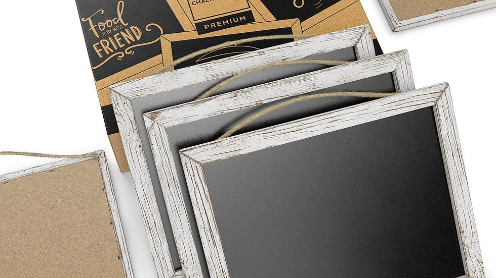 Arteza Vintage Framed Chalkboard 9.5x12 Inches, Pack of 5, with String