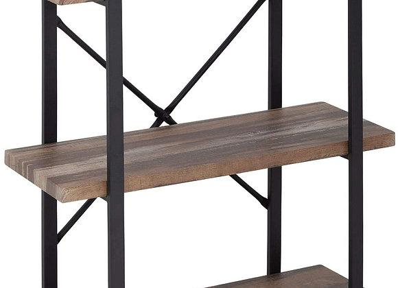 3-Tier Solid wood bookcase industrial Rustic Vintage Open Storage Bookshelf Wit