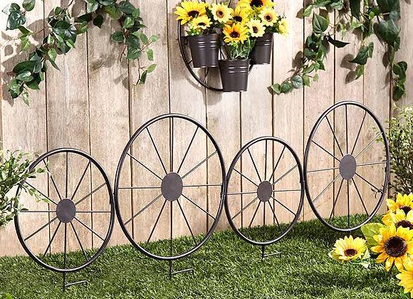 Wagon Wheel Fence or Planter