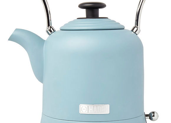 Haden Highclere 1.5 Liter Vintage Cordless Electric Tea Pot Kettle, Pool Blue