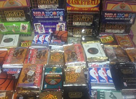 100 Vintage NBA Basketball Cards in Old Sealed Wax Packs - Perfect for New Coll