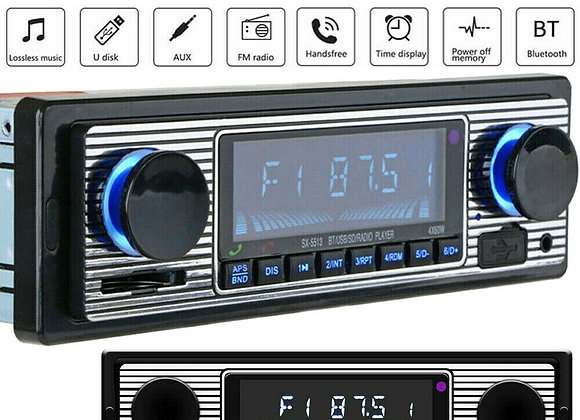 1DIN Car Radio MP3 Player Bluetooth Vintage Stereo USB AUX Classic Car Stereo A