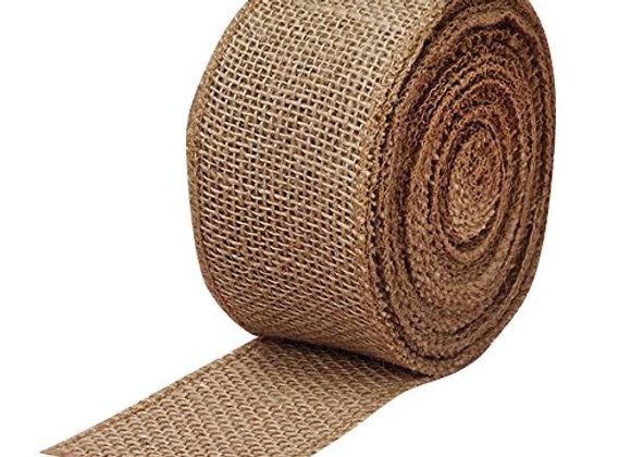 """Fabric Burlap Woven Ribbon - 2 1/2"""" x 10 Yards, Christmas Tree Ribbon for Craft"""