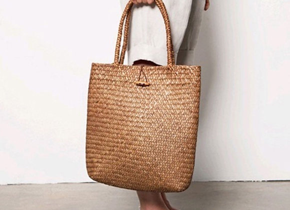 Women Vintage Straw Tote Handbag Woven Shoulder Shopping Satchel Bag Handbag
