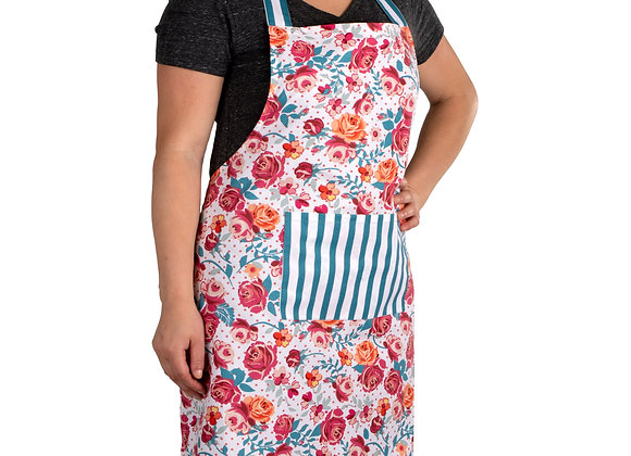100% Cotton Soft and Comfortable Vintage Rose Garden Pantry Apron