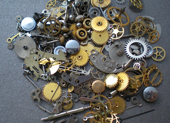 WHAT you SEE is what you GET - Vintage steampunk watch parts, 12 oz (14 grams)