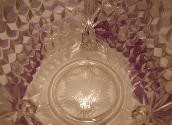 399 . Vintage clear pressed glass bowl