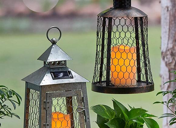 Oversized Solar Country Lanterns
