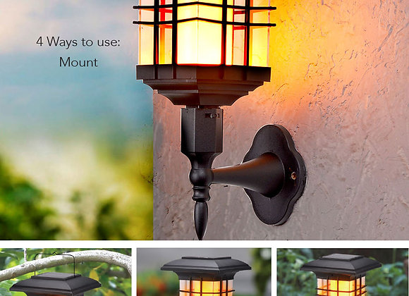 4-In-1 Solar Flickering Flame Lantern