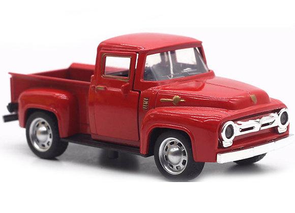 EFINNY Christmas Red Metal Truck