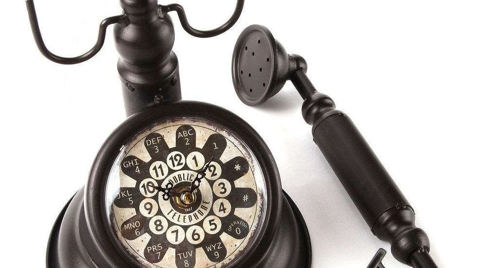 Old Fashioned Rotary Telephone Clock