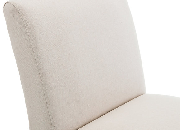BELLEZE Armless Contemporary Upholstered Single Curved Slipper Accent Chair Liv