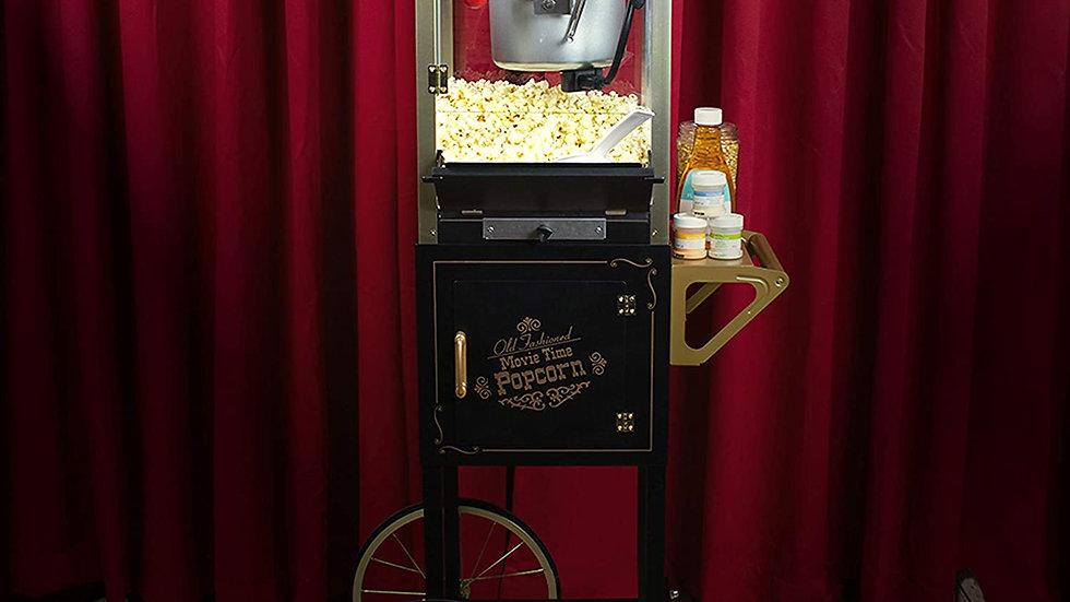 Nostalgia CCP510BK Vintage Professional Popcorn Cart-New 8-Ounce Kettle