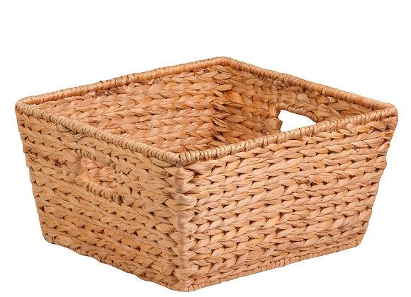 Hyacinth Basket With Iron Frame, Brown