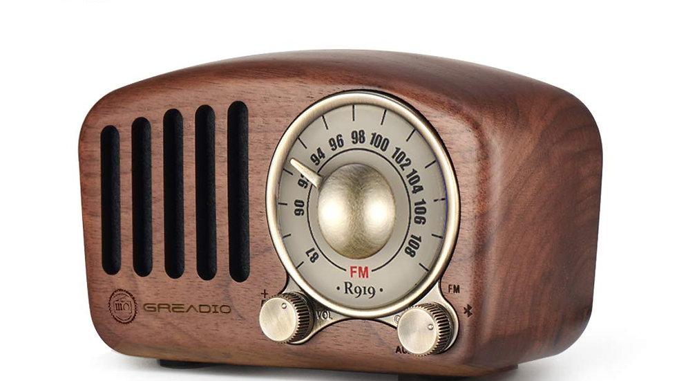 Vintage Radio Retro Bluetooth Speaker- Greadio Walnut Wooden