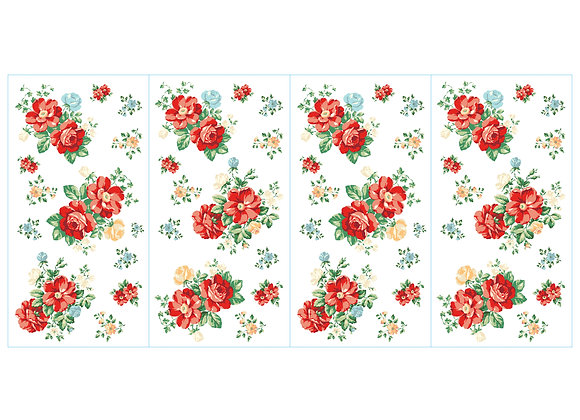 The Pioneer Woman Multi-Colored Vintage Floral 50-Piece Peel and Stick Wall Dec