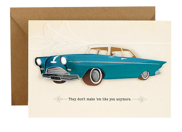 Hallmark Signature Father's Day Card (Vintage Classic Car, Don't Make 'Em Like