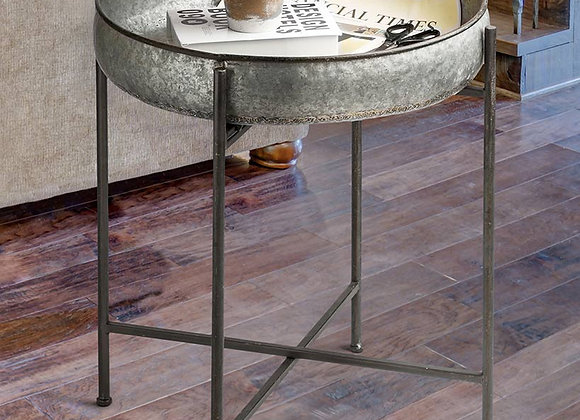 Galvanized Accent Table