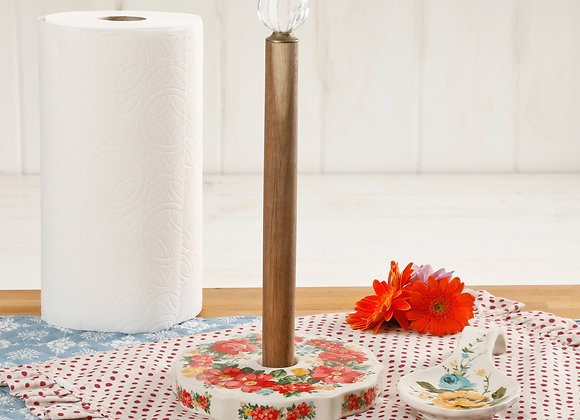 The Pioneer Woman Vintage Floral Paper Towel Holder with Rose Shadow Spoon Rest