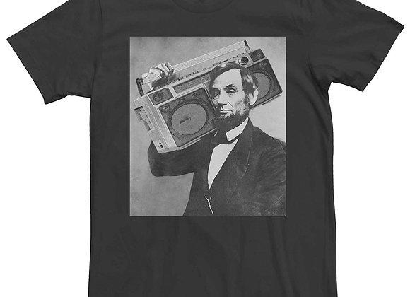 Men's Abe Lincoln Vintage Boom Box Graphic Tee
