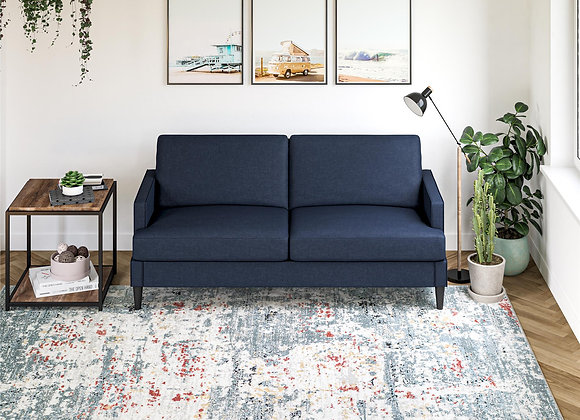 """Queer Eye Kerswell Transitional Vintage Area Rug, 5'3"""" x 7"""", Ivory Blue"""