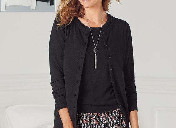 Fine Gauge Knit Cardigan Sweaters