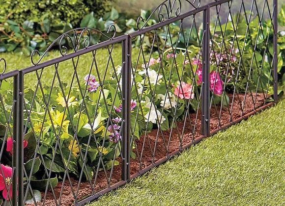 Scrolled Metal Garden Fence