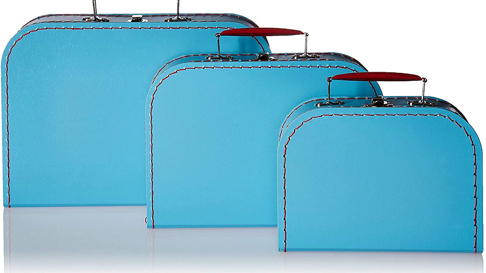 Cargo Vintage Travelers Mini Suitcases, Set of 3, Soft Blue