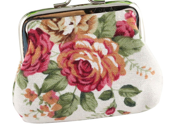 Women's Vintage Floral Change Coin Purse Hasp Clutch Bag Holder Small Wallet