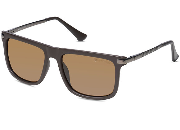 Alpine Swiss Mens Polarized Sunglasses Classic Retro Square Vintage Sun Glasses