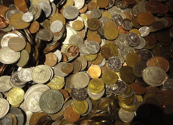 50 Different Foreign Coins (For Collecting, School Projects, or Crafting). (FRE