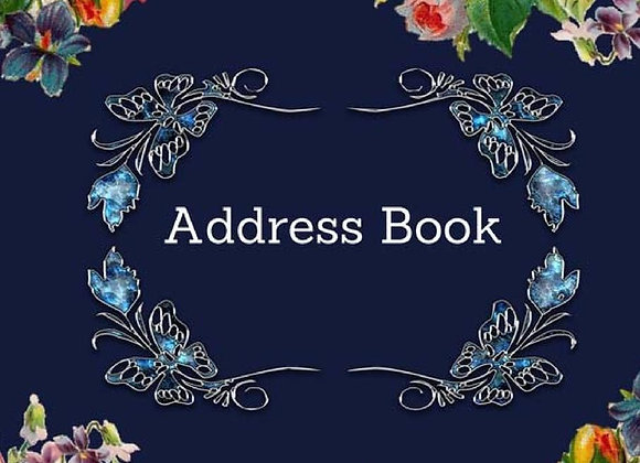 Gift: Address Book: Vintage Flower Cover: For Recording Name Address Phone Emai