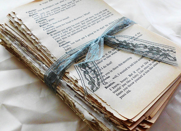 Vintage Book Page Bundle. Over 150 Pages of Beautiful Aged Patina'd Book Pages.