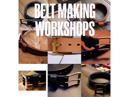 Belt Making - More Saturday dates added
