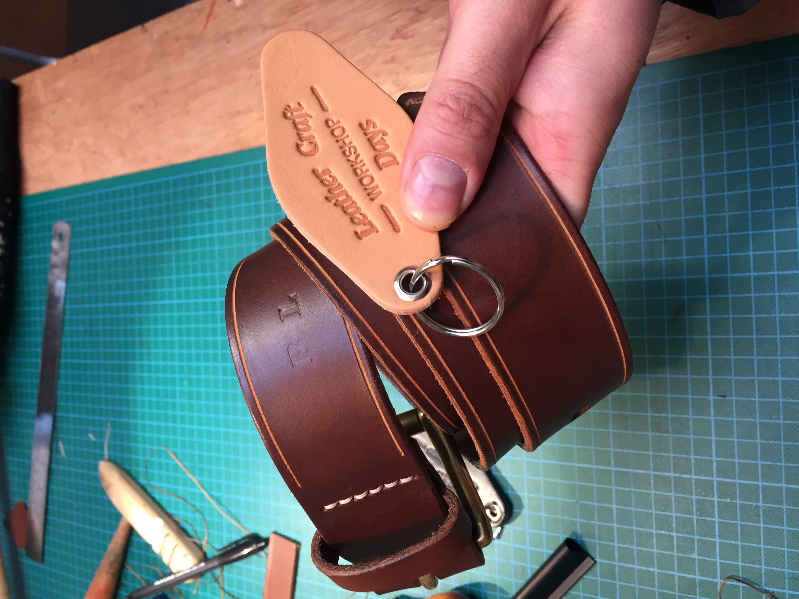 Fabulous finished Belt, and key fob placement!